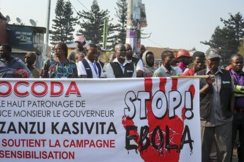 "Hundreds gather in Goma, Congo for ""Stop Ebola"" march"