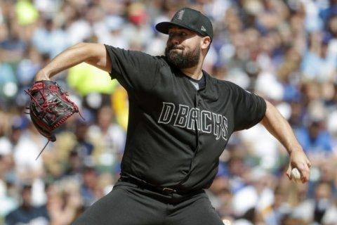 Ray helps D'backs avoid sweep, beat Brewers 5-2
