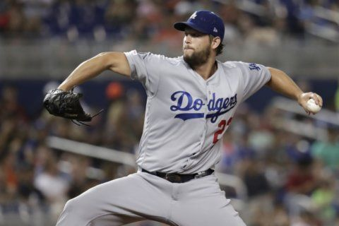Kershaw strikes out 10, shuts down Marlins in 9-1 win