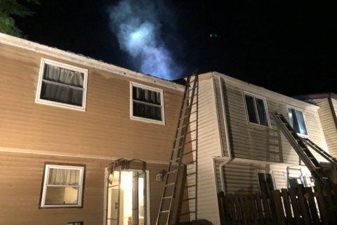 Lightning strike sparks fire at Montgomery County townhouse