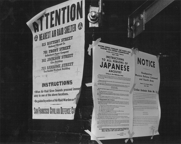 "<p>The incarceration of Japanese-Americans started not long after the Japanese attack on Pearl Harbor on Dec. 7, 1941, which brought the U.S. into the war.</p> <p>On Feb. 19, 1942, President Franklin D. Roosevelt issued Executive Order No. 9066, which set the process in motion. The order doesn't specifically mention Japanese-Americans — it declares that the secretary of war had the power to remove ""any or all persons"" from any area he deemed ""military areas"" at his own discretion. But those kept in what the government called ""<a href=""https://advancingjustice-la.org/sites/default/files/WJIU%20Four_Primary_Source_Documents_Japanese_Internment.pdf"" target=""_blank"" rel=""noopener"">concentration centers</a>"" were almost solely of Japanese-Americans from the West Coast.</p> <p>""Japanese-Americans, after the bombing of Pearl Harbor, were all of a sudden a very obvious ethnic group that was in danger of being targeted because of their ancestral ties to the enemy,"" Kelley said. ""And that's exactly what happened.""</p>"