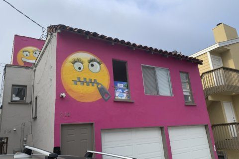 Giant emoji painted on house roil California community