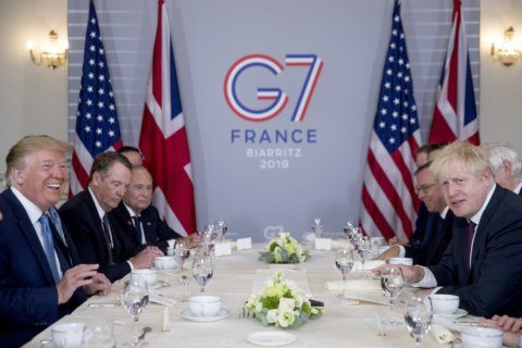 The Latest: French, US officials talk tech tax at dinner