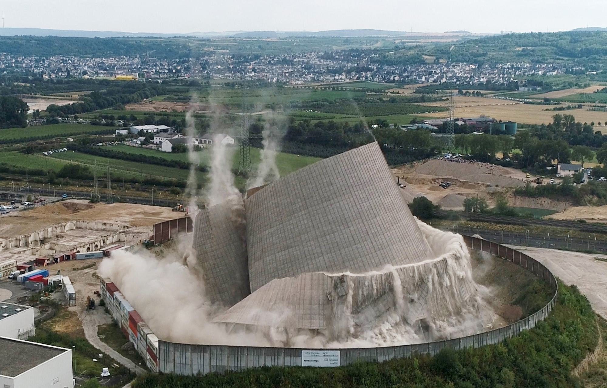 Short-lived German Nuclear Plant's Cooling Tower