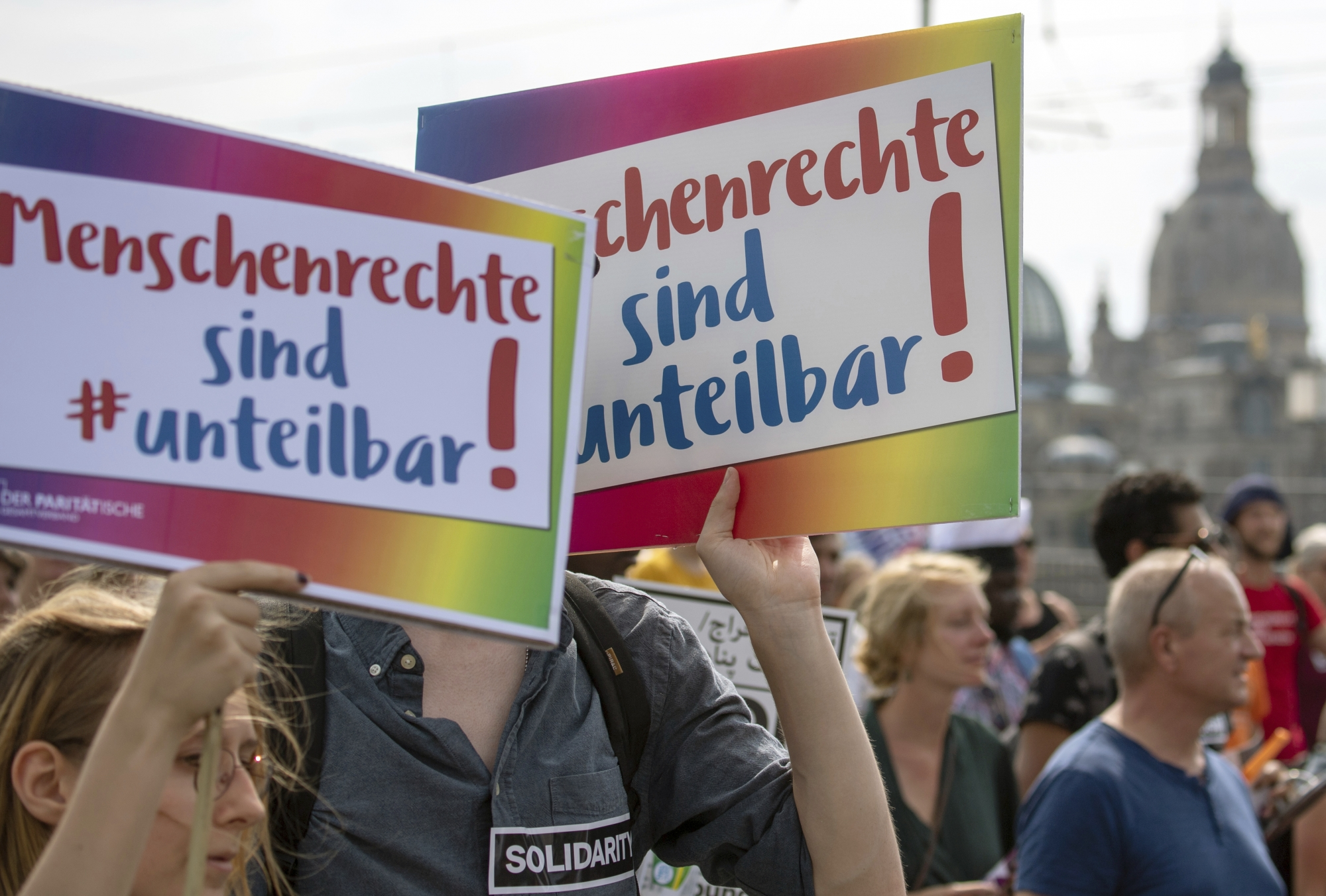 thousands protest in germany against racism