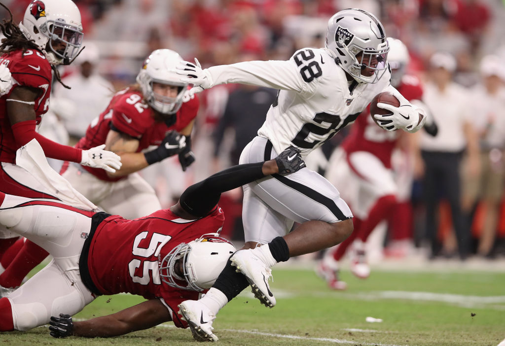 <p><strong>Offensive Rookie of the Year: </strong></p> <p>Josh Jacobs &#8211; Oakland Raiders</p>