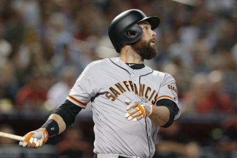 Belt's grand slam, 6 RBIs lead Giants over Arizona, 11-6