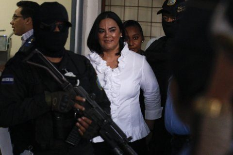 Honduras' ex-first lady convicted of fraud, embezzlement