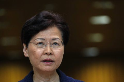Lam promises work to narrow Hong Kong rifts, no specifics