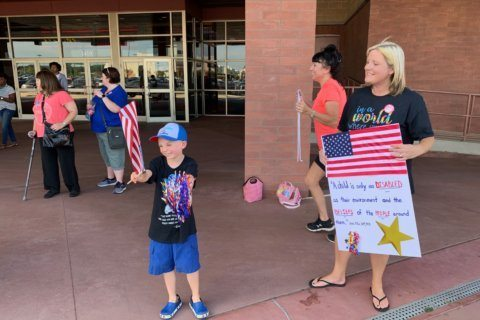 Dozens protest outside Crofton, Md., movie theater after special needs group denied entry