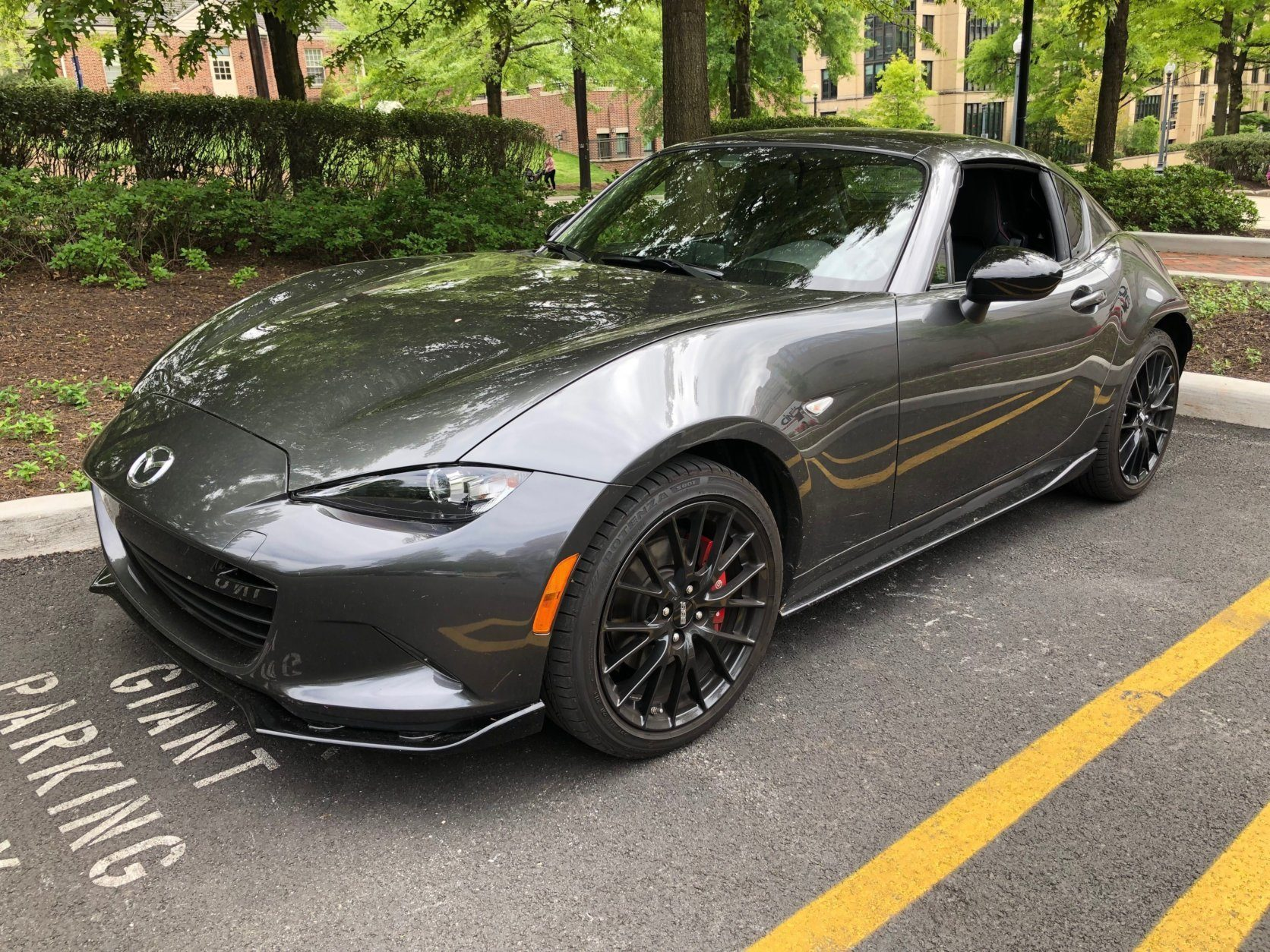 "<p><strong>2019 Mazda MX-5 Miata Club RF</strong></p> <p><strong>Price: </strong>$38,635 as driven</p> <p>Delivers on the crisp and stripped-down driving experience that Miatas are known for. The optional retractable hard top (RF stands for ""retractable fastback"") is easy to use.</p>"