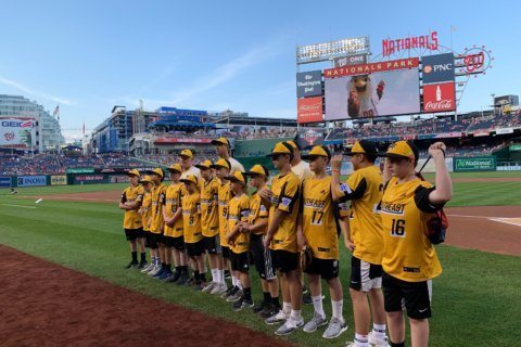 Perks of Loudoun South's LLWS run: Batting practice, props from Nats players