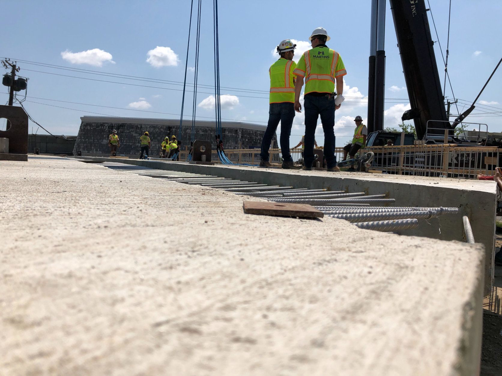 <p>Once the closure is put into effect, crews will begin demolition of an old one-way, two-lane bridge.</p> <p>The new 87-foot overpass will be carefully hoisted into position above Route 50 throughout the weekend.</p> <p>Virginia&#8217;s Department of Transportation said the decision to build the Wilson Boulevard bridge off-site and move it into place en masse was based on time savings and potential impacts on traffic.</p> <p>&#8220;Our traffic engineering group looked at the traffic volumes in Seven Corners and determined that we cannot take this bridge out of service for an extended period of time,&#8221; said VDOT spokesperson Ellen Kamilakis.</p>