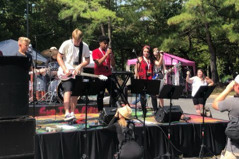 In honor of Woodstock's 50th Anniversary, students at the School of Rock Columbia put on a show