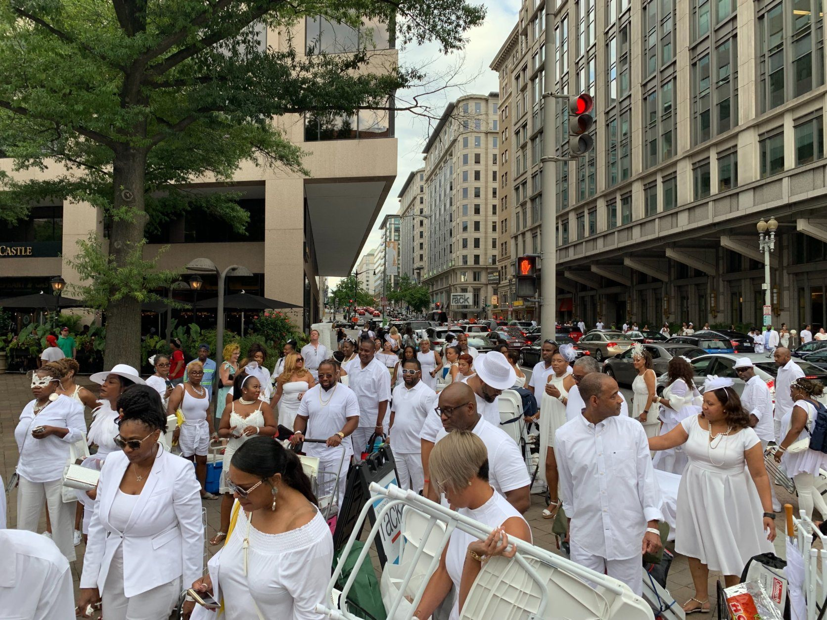 """<p>After the fifth edition of the party <a href=""""https://wtop.com/life-style/2018/08/fifth-dc-diner-en-blanc-takes-over-nats-park/"""" target=""""_blank"""" rel=""""noopener"""">fell flat in Nats Park</a> last August, Linda Davis, whose firm The Davis Group has organized all of the past local Diners en Blanc, said she learned that the event is better when it&#8217;s not contained in &#8220;a box.&#8221;</p> <p>&#8220;Certainly,&#8221; Davis said, &#8220;Nats Park is a beautiful setting, [and] our thought was &#8216;who would not want to be in one of the nation&#8217;s iconic ballparks?&#8217; We had to make the most of being within the bowl, and we had to make some adjustments. [The Nats] have certain guidelines that were probably not the best fit for this event.&#8221;</p>"""