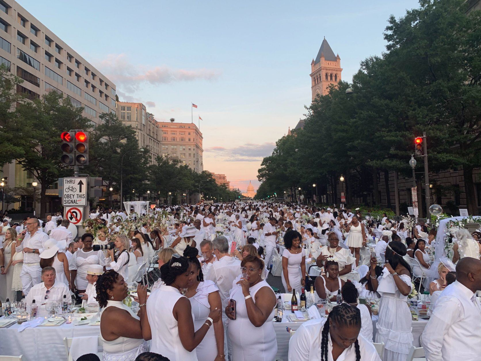 <p>Jared Evans, of D.C.&#8217;s Brookland neighborhood, is a veteran attendee. He said he was disappointed with last year&#8217;s party at Nats Park.</p> <p>&#8220;Compared to last year, this year is 100% better,&#8221; he said. Evans, dressed in an all-white romper with short pants, said he was looking forward to the event and he couldn&#8217;t have been happier with how it turned out. &#8220;To have this environment, see all this excellence, all this black excellence in D.C., it&#8217;s just a great experience. We&#8217;re right here on Pennsylvania Avenue, America&#8217;s Avenue, having an all-white dinner. You can&#8217;t buy this experience.&#8221;</p>