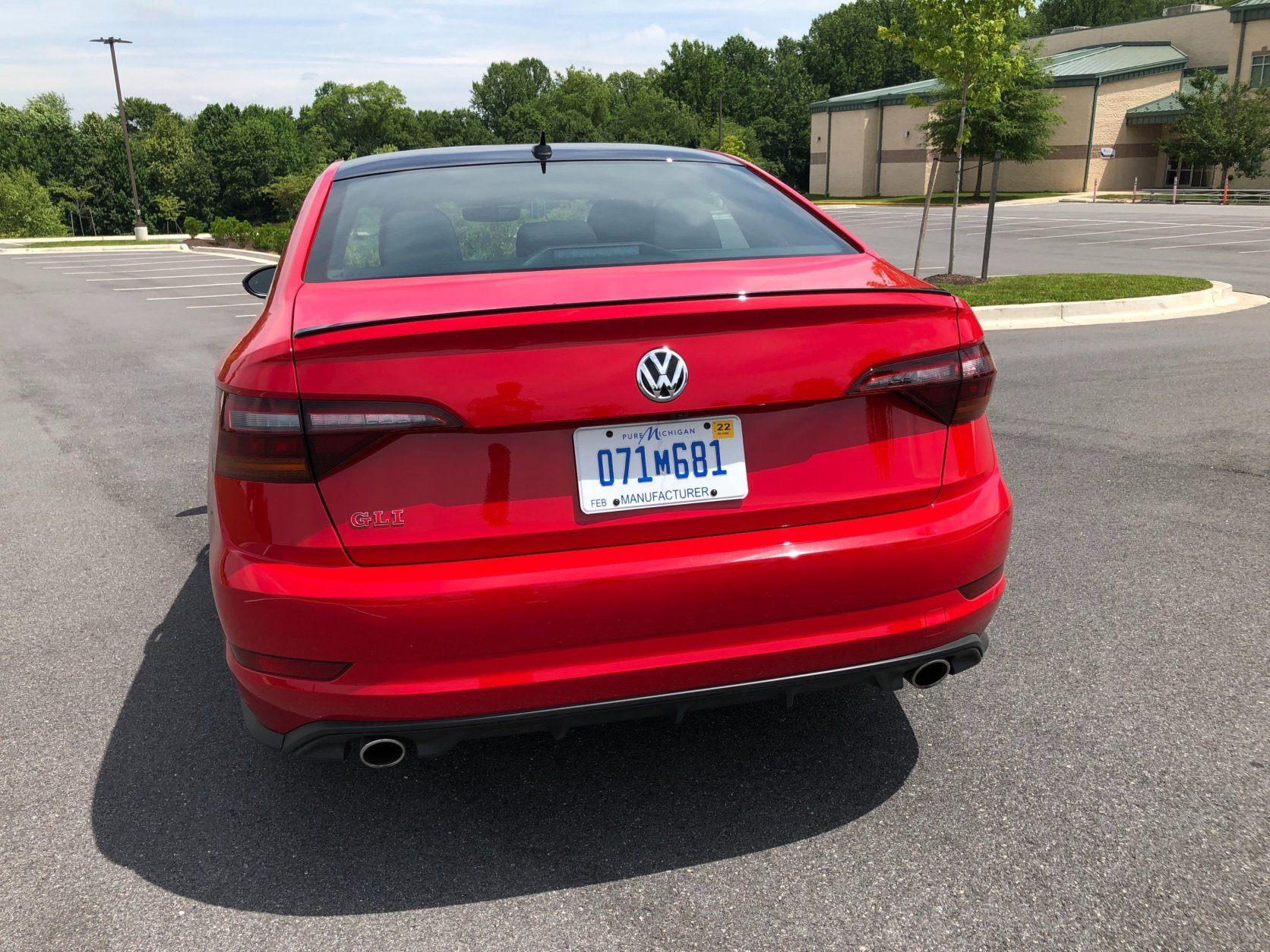 <p>The back end styling is completed by dual chrome exhaust tips, a small black spoiler and special rear bumper that are just for GLI models.</p>