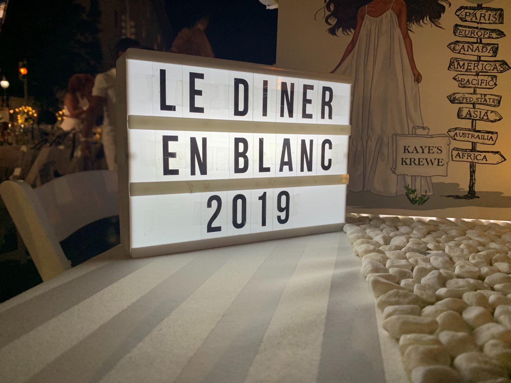<p>Buffy Holmes came from Hanover, Maryland, near Baltimore, to attend her first Diner en Blanc. She got an invite from a friend in July, and the planning began. First came some orders from Amazon and some trips to purchase decorations and place settings from TJ Maxx.</p> <p>&#8220;I&#8217;ve never been before, and I didn&#8217;t have those things in my arsenal, so it got pretty expensive,&#8221; she said. &#8220;I think I did pretty good, but there are some really elaborate ones, so I&#8217;m taking notes and I plan to come back bigger and better.&#8221;</p>