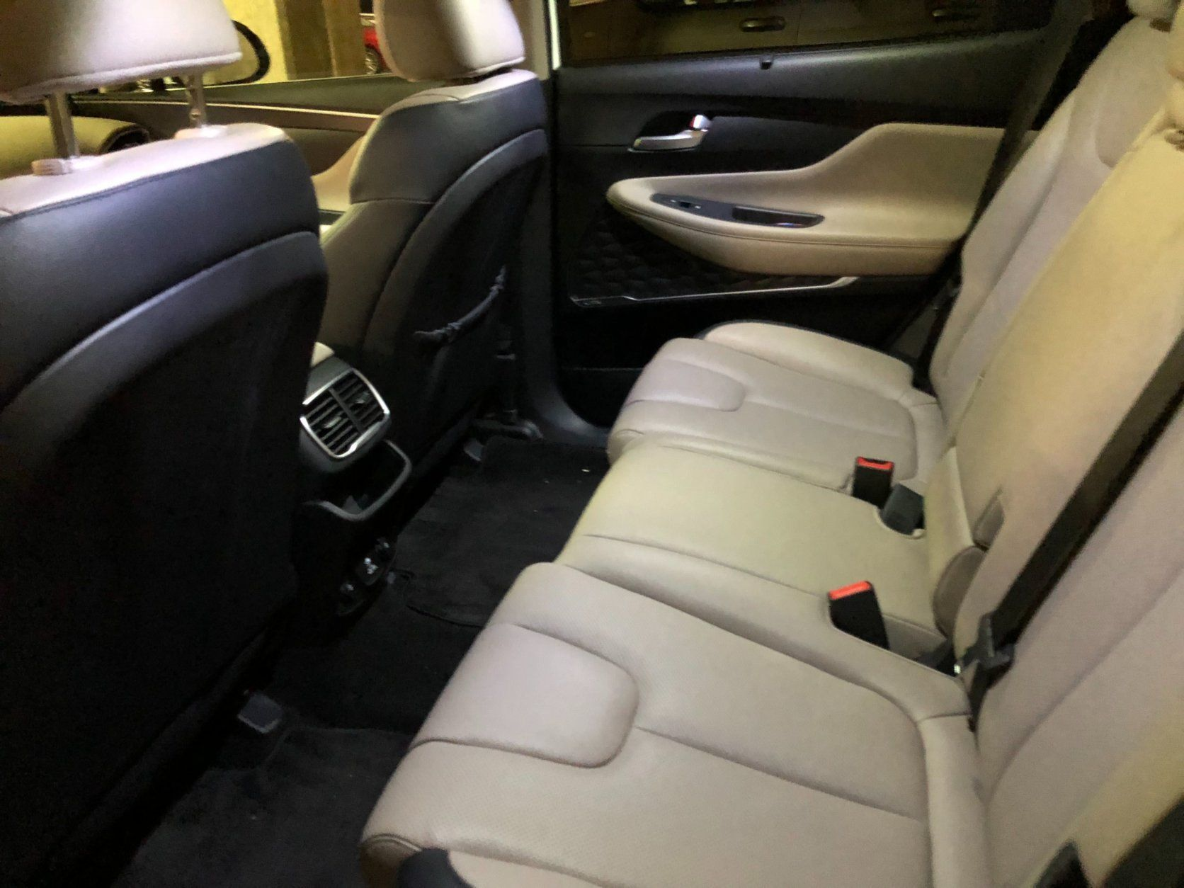 <p>Those in the back seat have good space and while two adults have no problem with space in the back, a third adult would wish for a bit more shoulder space.</p> <p>The two-tone color scheme used throughout the interior adds a touch of class and the look of a pricey luxury brand.</p>