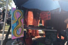 Local artwork is featured at the Woodstock 50th Anniversary Concert in Columbia, Maryland.