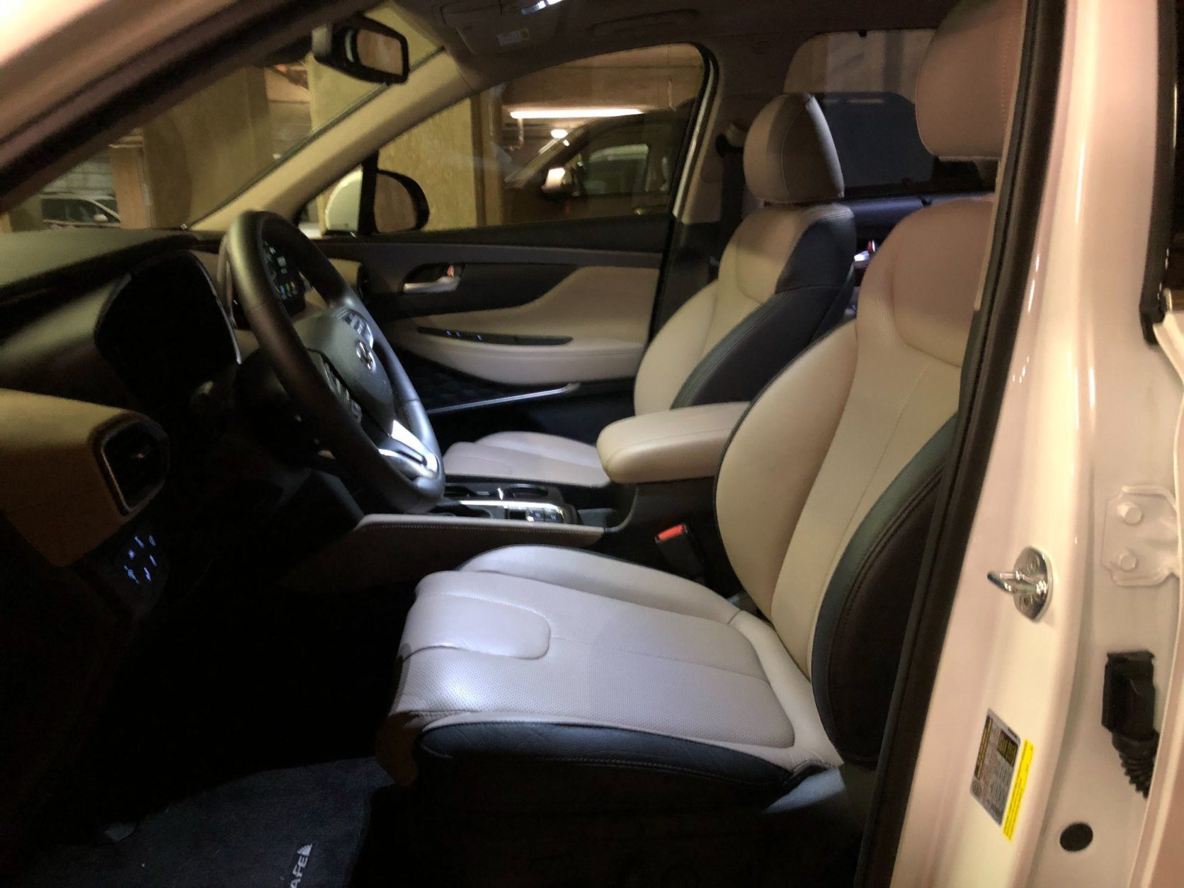 <p>The leather covered, heated and ventilated seats are comfortable with plenty of power adjustments to get that perfect position.</p> <p>Now that this 2019 Santa Fe is just a two-row crossover, the luggage space should please most buyers. Interior materials are upgraded with more soft touch and richer looking plastics, vinyl and leather.</p> <p>The cabin has benefited from the use of more sound deadening and its road and wind noise has been greatly reduced from the previous Santa Fe.</p>