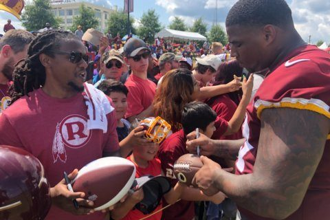Thousands of fans turn out for Redskins Fan Appreciation Day