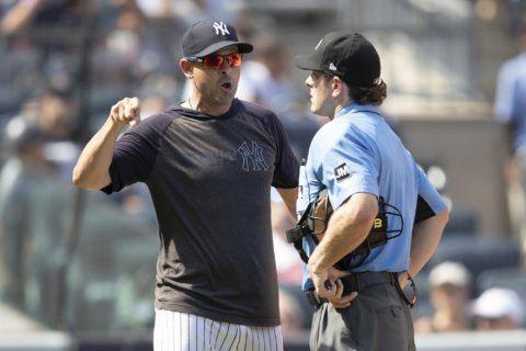 'Savages' again: Yankees erupt at umpires, beat Indians 6-5