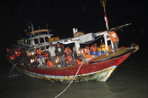 Indonesian rescuers search for 34 missing after ferry fire