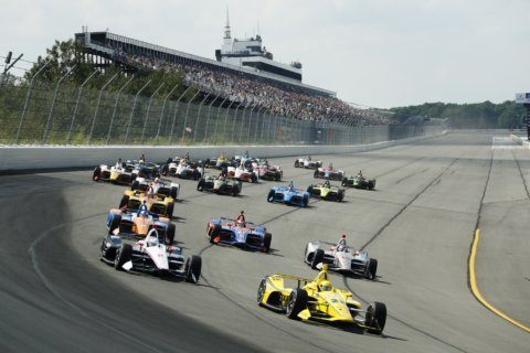 The Latest: Power wins shortened Pocono race marred by wreck