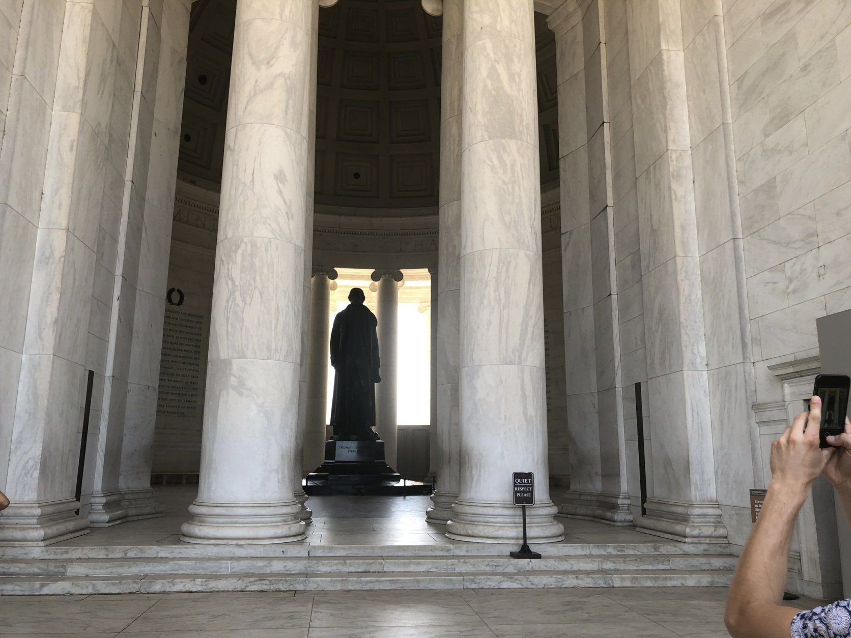 <p>The 15-month project is expected to conclude in May 2020.</p> <p>While work is underway, the monument&#8217;s inner chamber will remain open so you can see Thomas Jefferson&#8217;s statue; the elevator is running; the bathrooms are open; and the gift shop will operate as usual.</p>