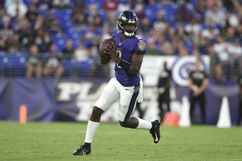 Jackson, Ravens' defense combine for 29-0 win over Jaguars