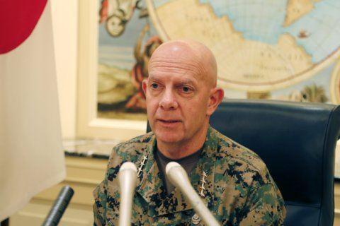 US Marines chief acknowledges worries on Japan-Korean ties