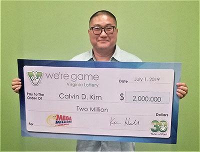 alexandria lottery winner Calvin Kim