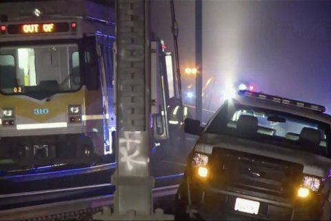 Light rail train derailment injures dozens in California