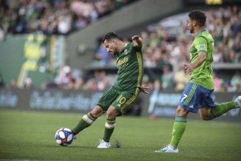 Roldan, Ruidaz lift Sounders over Timbers for Cascadia Cup