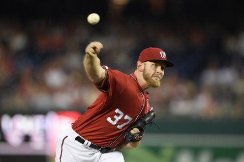 Strasburg strikes out 14, Nationals beat Marlins 7-0