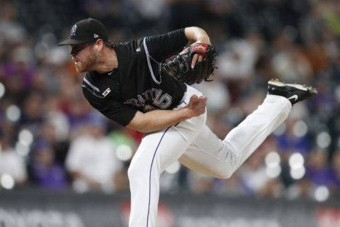 Rockies' Oberg again treated for blood clot in pitching arm