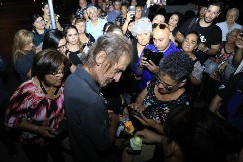 The Latest: Stranger says goodbye to El Paso shooting victim