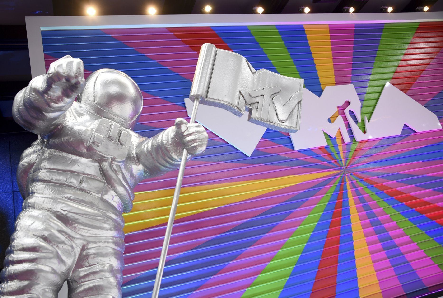 In this Monday, Aug. 20, 2018, file photo, a statue of the MTV Moon Man appears on the red carpet at the MTV Video Music Awards at Radio City Music Hall in New York. 2019 is the year of Missy Elliott: The rap icon will earn the Michael Jackson Video Vanguard Award at the MTV Video Music Awards in New Jersey. Performers include Elliott, Taylor Swift, Lizzo, Normani, Bad Bunny, Shawn Mendes, Camila Cabello, H.E.R., J Balvin, Lil Nas X, Rosalia, Ozuna and Jonas Brothers. (Photo by Evan Agostini/Invision/AP, File)