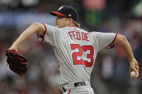 Nats back Fedde's first win in 8 starts, beat Giants 4-0