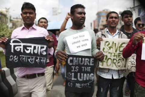 Nepal protesters urge end to plan to chop trees for airport