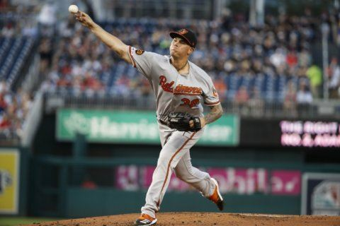 Brooks, Orioles stymie hot-hitting Nationals in 2-0 victory