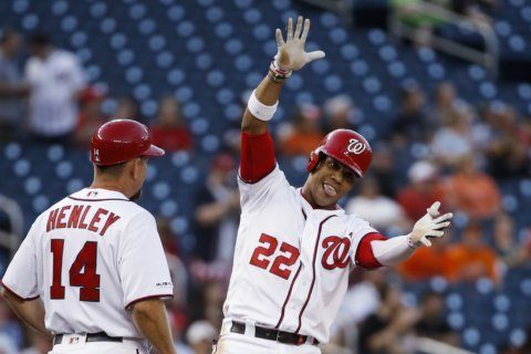 Scherzer goes over 200 Ks as Nationals beat Orioles 8-4