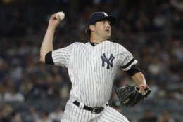 New York Yankees' Brady Lail delivers a pitch during the sixth inning of the second game of a baseball doubleheader against the Baltimore Orioles, Monday, Aug. 12, 2019, in New York. (AP Photo/Frank Franklin II)