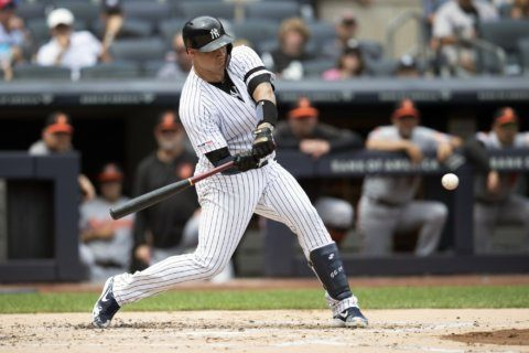 Sanchez, Yankees beat Orioles for 16th straight time, 6-5