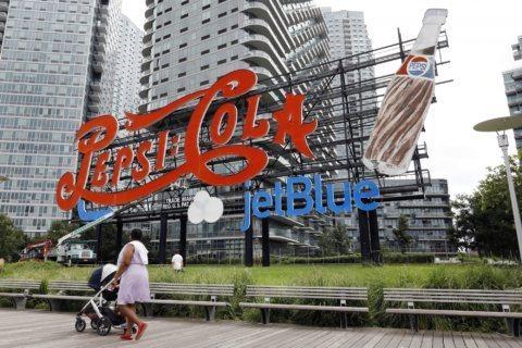 JetBlue addition to Pepsi sign leaves bad taste for some