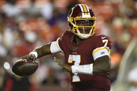 Redskins QB Dwayne Haskins flashes skill vs. Ravens