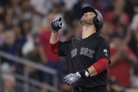 Martinez drives in 7 as Red Sox beat Padres 11-0