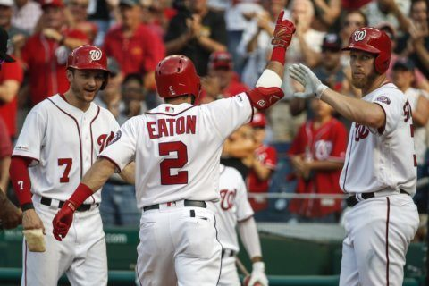 Nationals put up 10 runs in 5th, 6 in 6th, beat Reds 17-7
