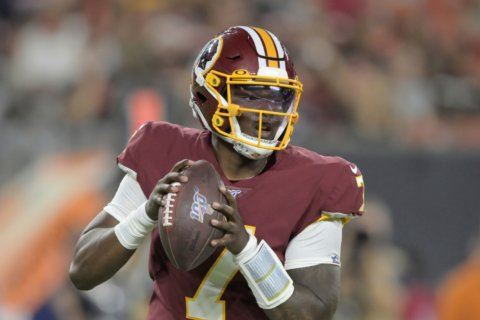 An uneven debut for Haskins in Redskins preseason opener